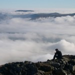 Above a sea of mist on Ben Lawers