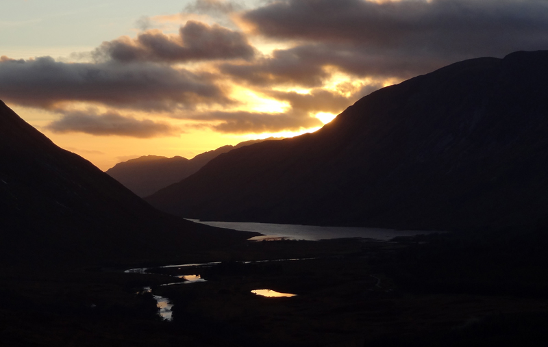 Sunset over Loch Etive