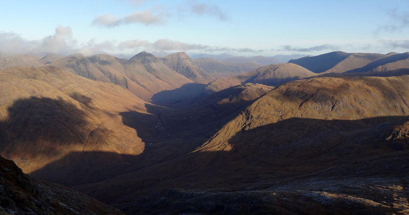 View up Glen Etive from Stob Coir' an Albannaich