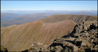View to Carn Mor Dearg from near the summit of Ben Nevis