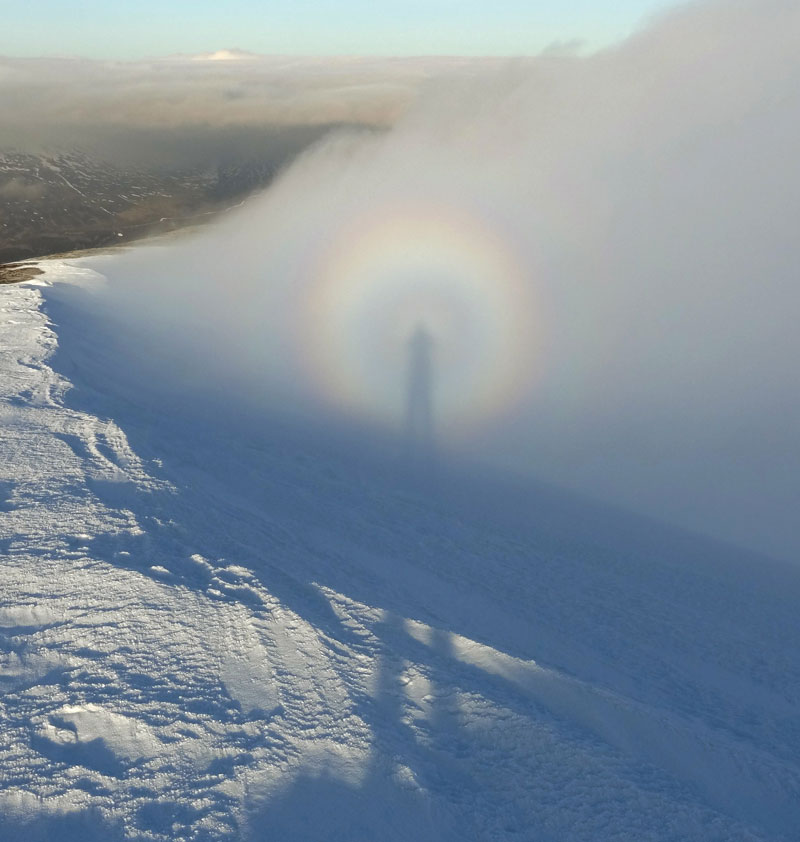 Brocken Spectre and Glory on Carn Liath