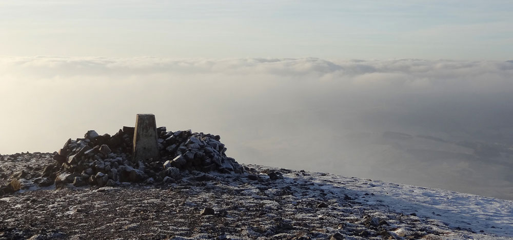 Summit cairn and trig point of Carn Liath