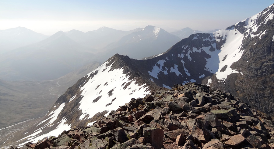 CMD Arete with Mamores beyond