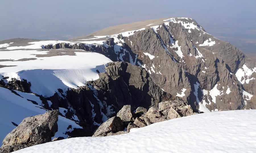 View across the Ben Nevis summit plateau to Carn Dearg