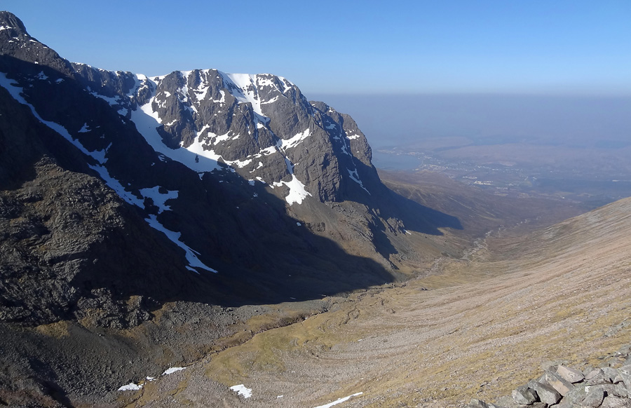 View across Coire Leis from Carn Mor Dearg