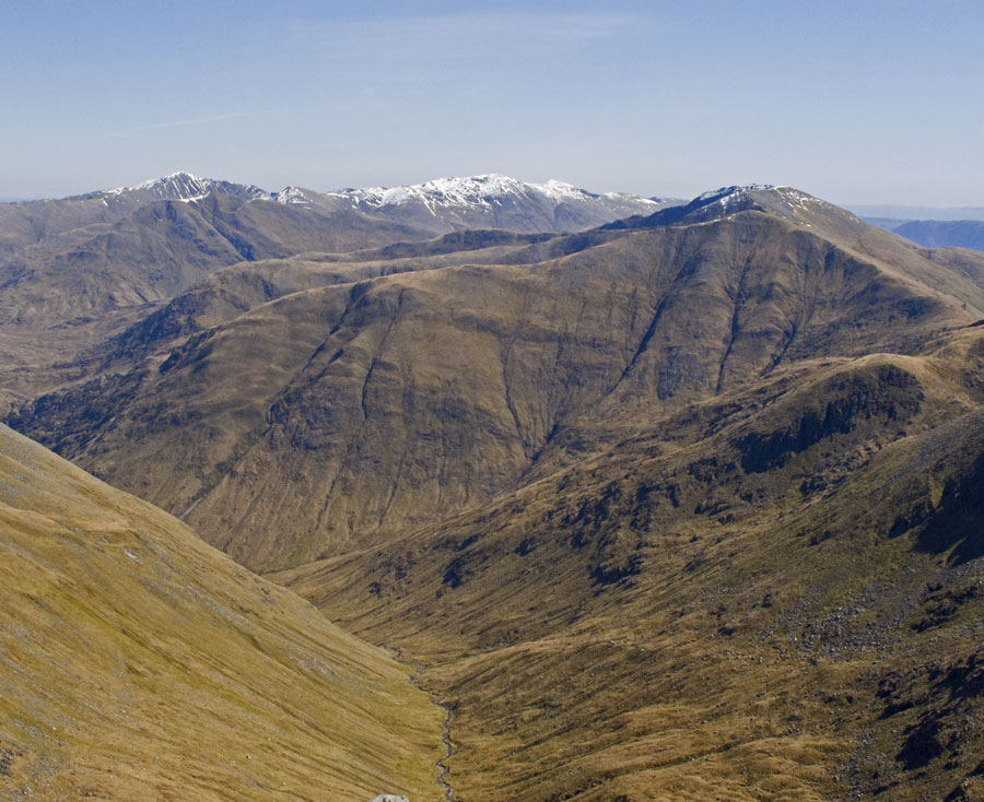 Looking toward the East Kintail peaks from Sgurr na Carnach