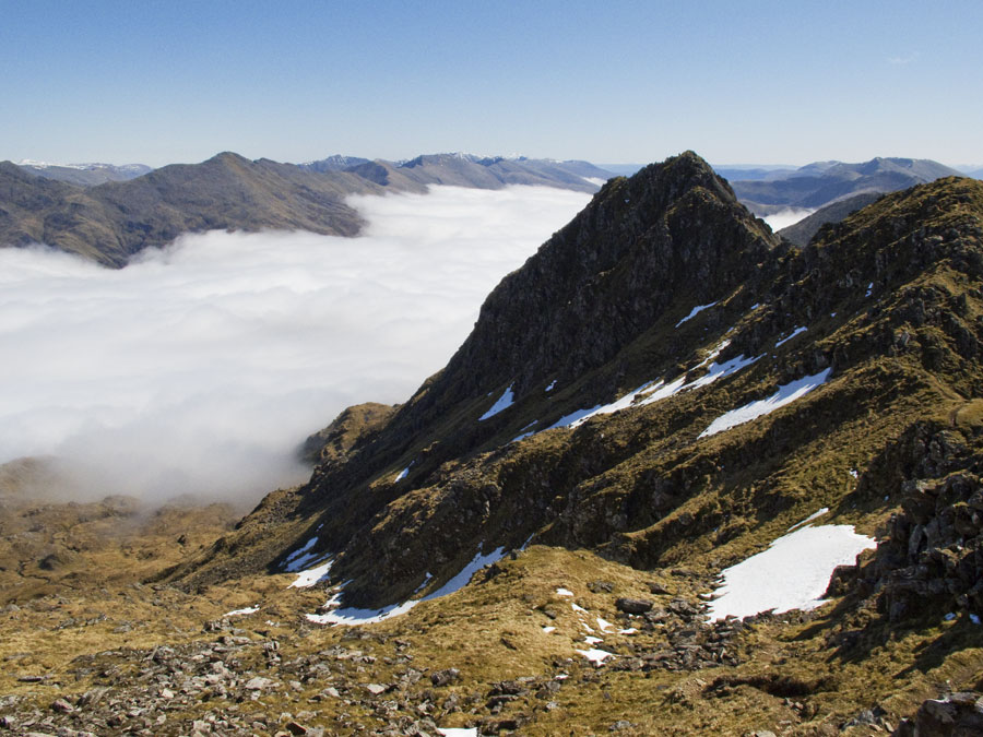 Sgurr na Forcan as seen from the summit of The Saddle