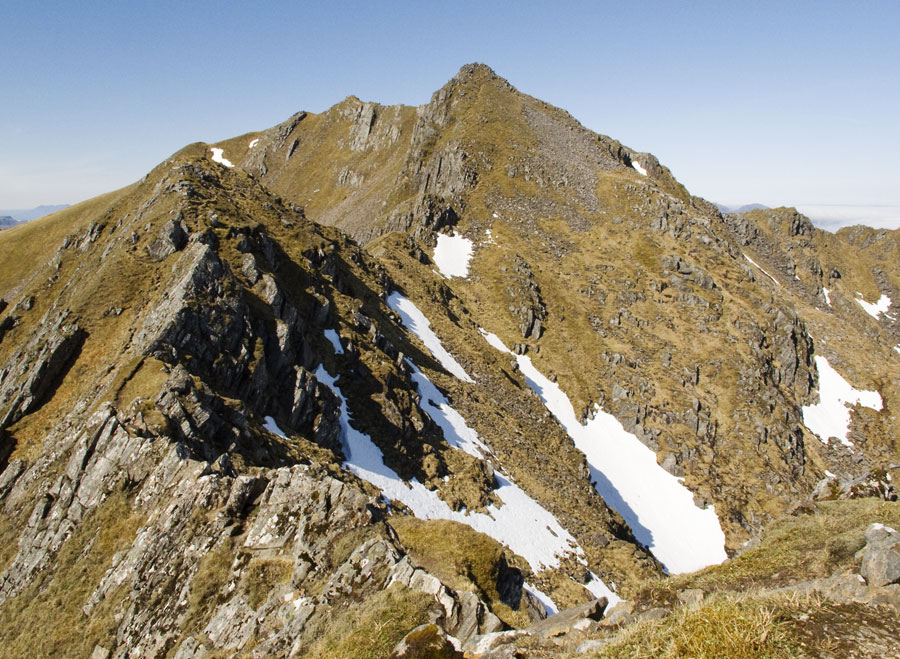 Summit of The Saddle viewed from Sgurr na Forcan