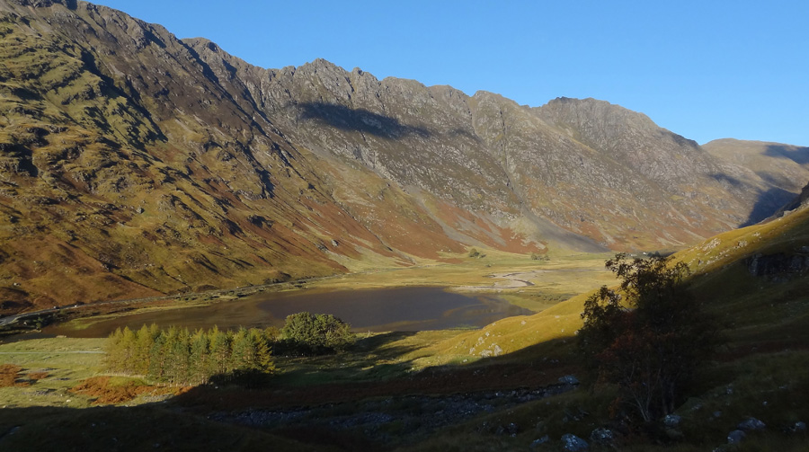 View of Loch Achtroichtan and Glen Coe from Coire nam Beithach