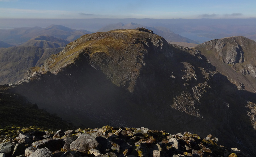 View East from summit of Bidean nam Bian