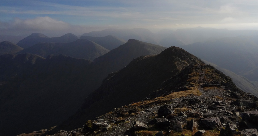 View West from summit of Bidean nam Bian