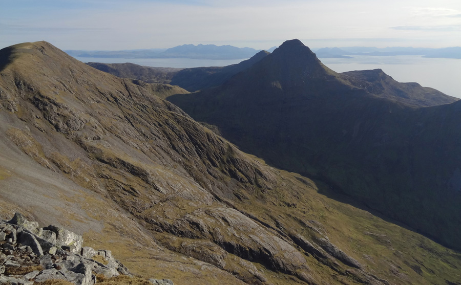 Ainshval and Askival as seen from Sgurr nan Gillean