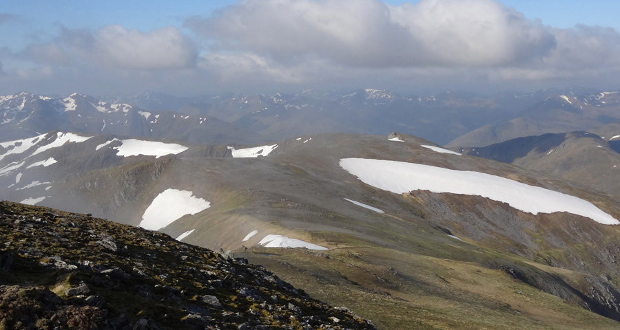 View South West from summit of Mam Sodhail